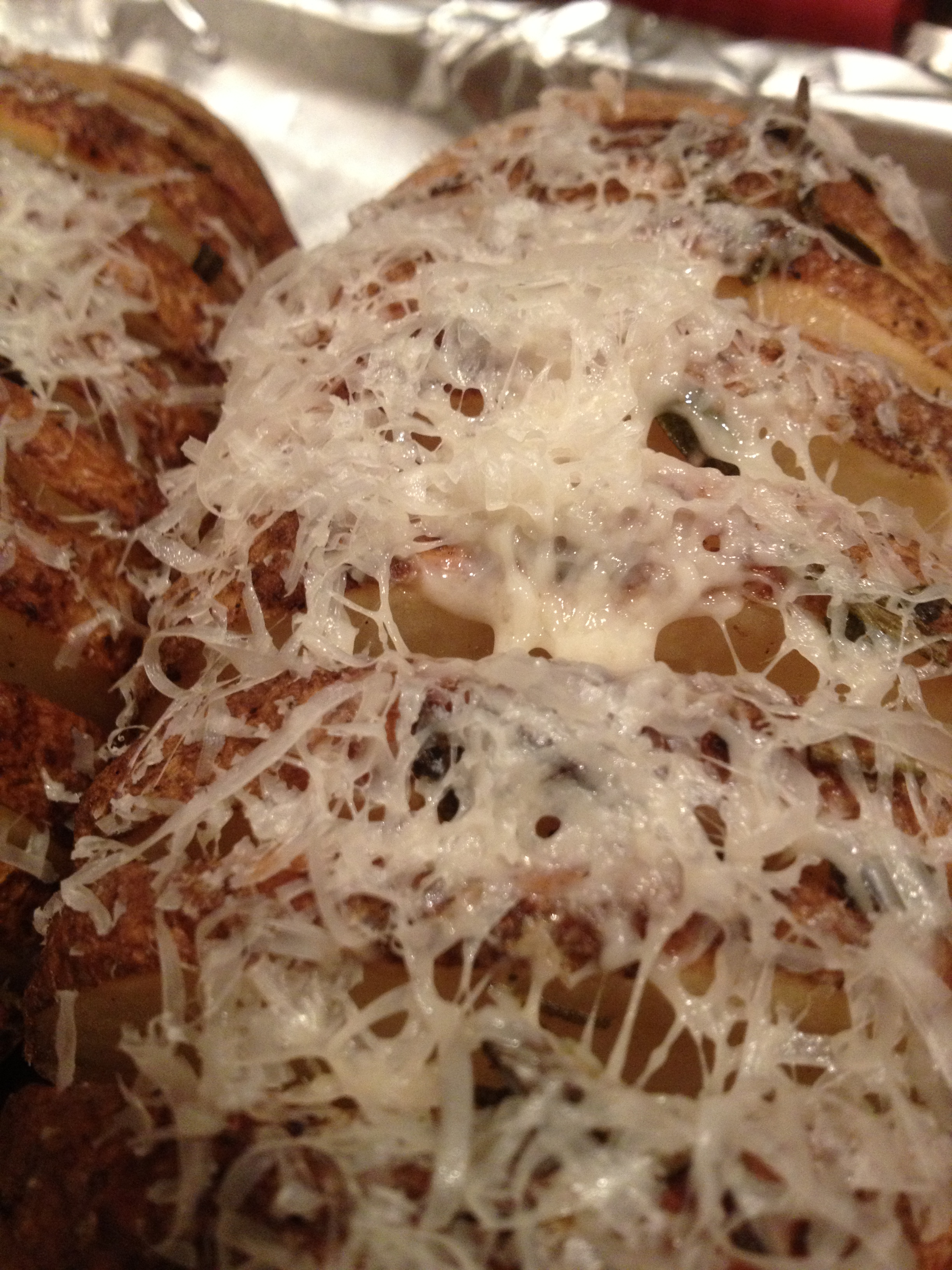 Baked with parmesan